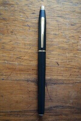 Vintage CROSS Select Black Rolling Ball Pen 2105 + New Blue Ink Refill