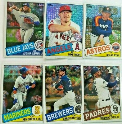 2020 Topps Series 1 Silver Pack Refractor You Pick U Complete Ur Set 1985 Retro