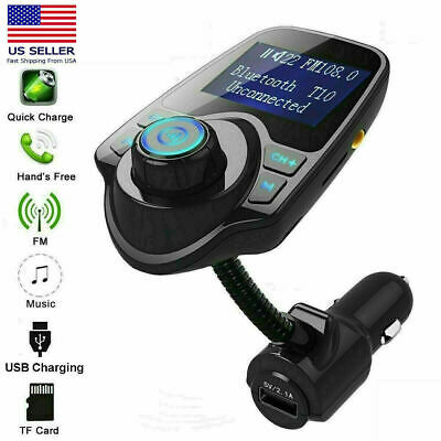 Bluetooth Wireless FM Transmitter In-Car MP3 Radio Adapter Car 2 USB Charger