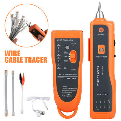 Wire Cable Tracer Tone Generator Finder Probe Tracker Network Tester w/ Bag