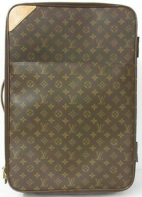 Auth LOUIS VUITTON Monogram Pegase 55 Rolling Brown Canvas Weekend Travel M23294