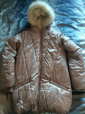 Girls Winter Coat Pink Age 15-16 Years