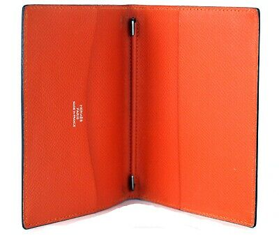 Authentic Hermes Paris Orange Leather Agenda GM Note Address Book Cover France