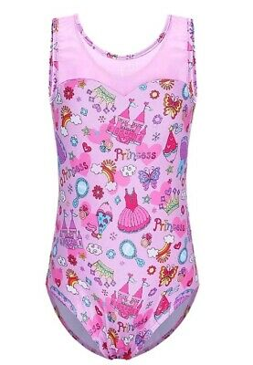 Gymnastics Dance Leotard Princess Pattern Size 10A (UK 9Y-10Y)