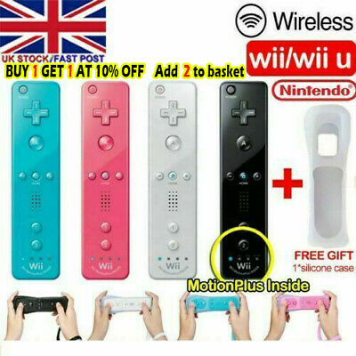 Wiimote Built in Motion Plus Inside Remote Controller +Case For Nintendo wii UK-
