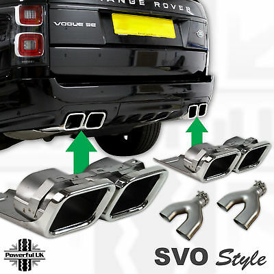 AB kit fitted Autobiography AB Exhaust Tips Range Rover Sport L320 2010 2013