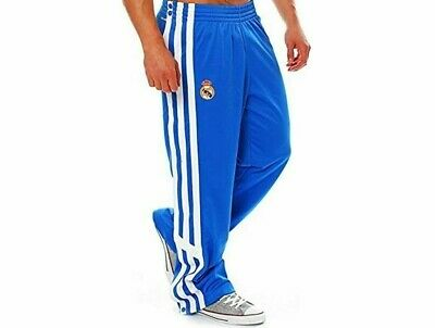 adidas Real Madrid Men's Basketball Pants Trousers - Blue - New