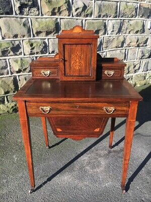 Antique Inlaid Rosewood Ladies Desk