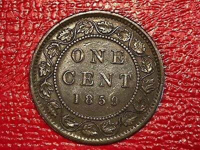 High Grade 1859 Canada Large Cent Coin-Dec064