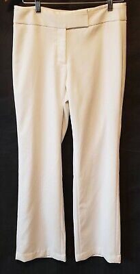 WHITE HOUSE BLACK MARKET Women's Cream Pants Sheen Tux Boot Cut- Size 4R NEW
