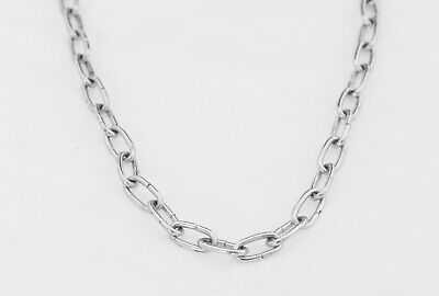 Oval linked decorative chain chrome plated welded links 2.3mm