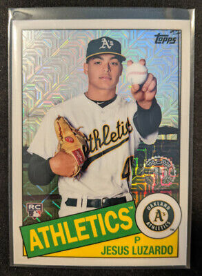 2020 Topps Series 1 Silver Pack 1985 Chrome Parallel JESUS LUZARDO RC Athletics