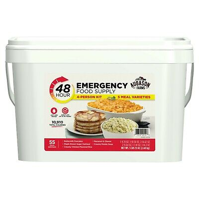 48-Hour 4-Person Emergency Food Supply Pail Storage 55 Servings Survival Ration
