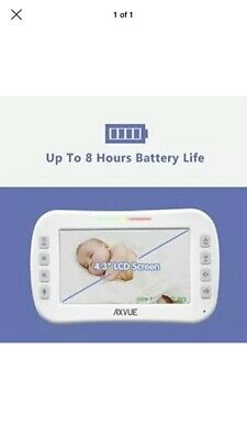 """Axvue E610M Video Baby Monitor with 4.3/"""" LCD Screen OPEN BOX"""