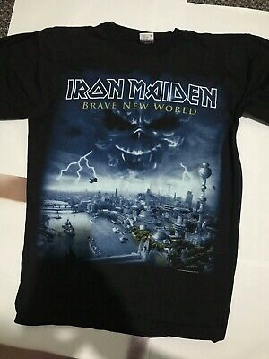 Iron Maiden Vintage L 2000 Brave New World Not Dated Event Tour T Shirt