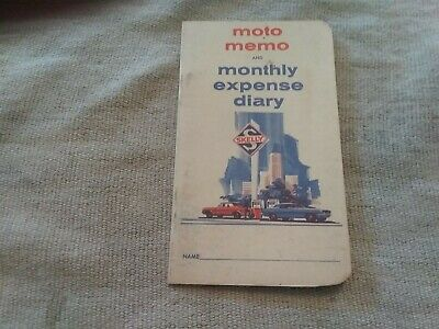 Vintage Original Skelly Moto Memo Diary Booklet  1950s Advertising UNUSED