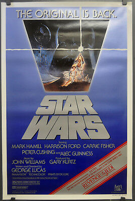 Star Wars R-1982 Orig 27X41 Rolled Movie Poster Lucas Mark Hamill Harrison Ford