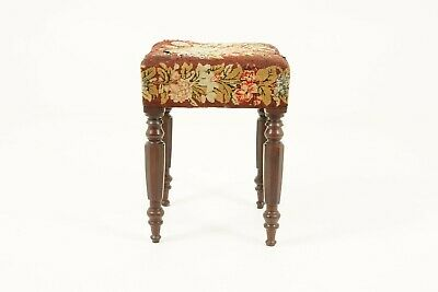 Antique Victorian Upholstered Bench Stool, Walnut, Scotland 1880, B1760
