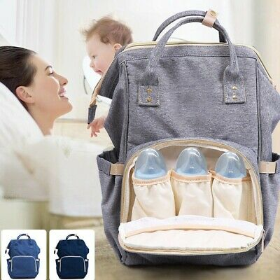 Multifunctional Large Baby Diaper Backpack Changing Waterproof Bag Mommy Nappy