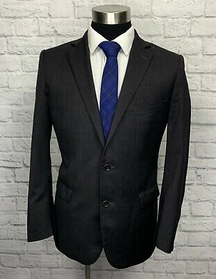 Brooks Brothers Fitzgerald Estrado Mens Gray Wool Suit Jacket Sport Coat 39R