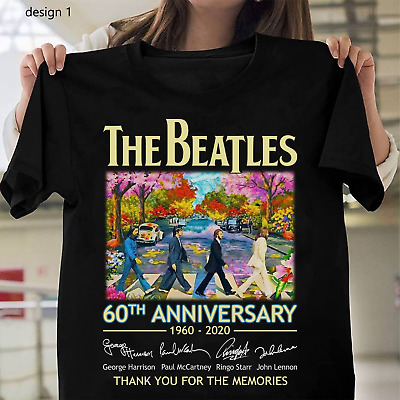 60th Anniversary The Beatles 1960-2020 Signature Thanks Memories Shirts