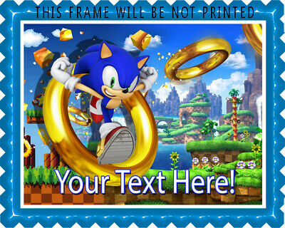 Sonic The Hedgehog Edible Cake Topper Or Cupcake Topper 8 95
