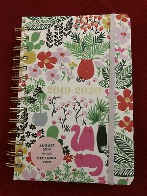 New Kate Spade New York Garden Posy 17-Month Medium Planner Aug 2019-Dec 2020