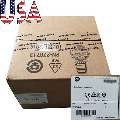 【1756-A4】US STOCK Allen-Bradley 1756-A4 Open-Style 4 Slot ControlLogix Chassis
