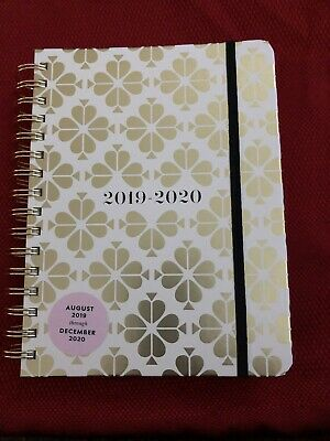 Kate Spade Gold Spade Flower 17 Month Large Planner Aug 2019 - Dec 2020