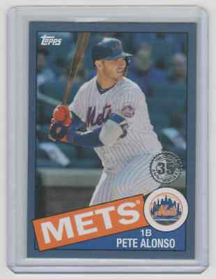 2020 Topps Series 1 1985 BLUE #85-68 Pete Alonso New York Mets Parallel Insert