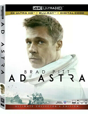 New 20th Century Fox AD ASTRA 4K UHD + BLU-RAY + Digital Code With SLIPCOVER