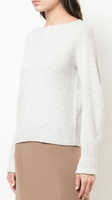 NWT $345 Vince Ribbed Cashmere Sweater In ROSEWATER Size L