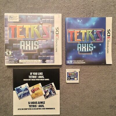 Tetris: Axis (Nintendo 3DS, 2011) Authentic, Tested *Complete In-Box w/ Manual*
