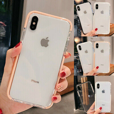 Clear Shockproof Bumper Soft Silicone Case Cover For iPhone XS Max XR X 7 8 Plus