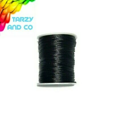 1.5mm Black Satin Nylon Cord 1-10m DIY Silicone Bead Teething Necklace Jewellery