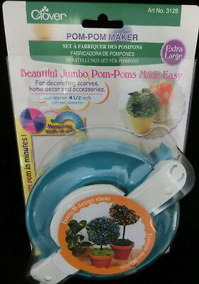 """Clover Pom Maker Extra Large Turquoise//White XL 4.5/"""" 115  mm"""