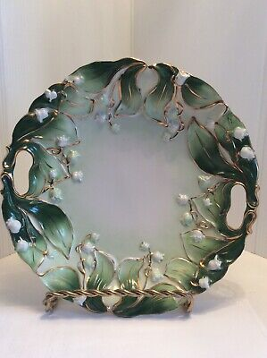 "Vintage Decorative  Lilly Of The Valley 10"" Plate"