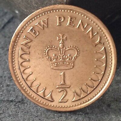 1976 halfpenny, 1/2 penny coin. Free UK p&p