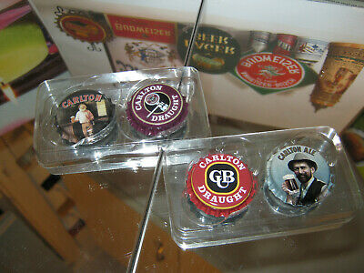 Carlton Draught Classic Collectible  Fridge Magnets X4 (New)