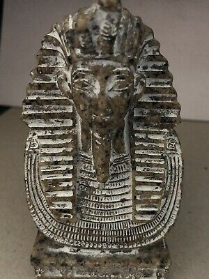 Rare Large Ancient Egyptian King Tutankhamen Bust (1403-1365 BC)