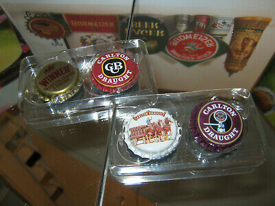 Carlton Draught Classic Collectible  Fridge Magnets X4 (New) (G)