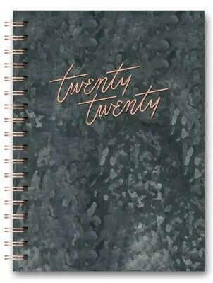 2020 17-Month Planner LEATHERESQUE Tabbed SPIRAL AGENDA Charcoal Grey ORGANIGER!