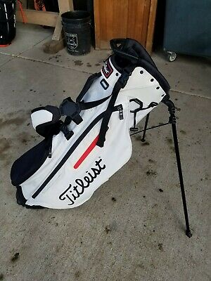 Titleist Players 4 Stand Bag- White Black Red 4-Way Dividers - 2019