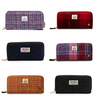 Genuine Ladies Harris Tweed Long Purse By Snow Paw Various Colours Available