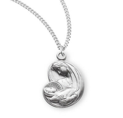 Madonna and Child Sterling Silver Medal
