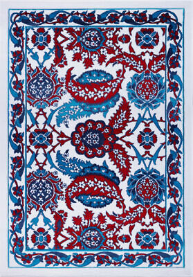 Ornamental Abstract Blue Red Indoor Runner Area Rug Carpet 4x6 5x7 6x9 8x10