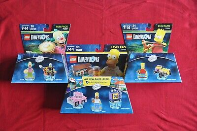 New LEGO Dimensions The Simpsons Homer 71202 Level Pack+ Bart 71211 Krusty 71227