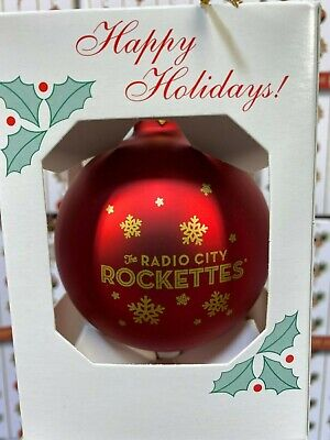 The Radio City Rockettes  RED SNOW CHRISTMAS ORNAMENT OFFICIAL MERCHANDISE NEW!!