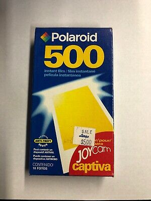 Polaroid 500 Instant Film Pack 10 Photos New SEALED Exp 03/05 Joycam Captiva SLR