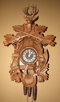 Black Forest Hunter's Animated Musical Cuckoo Clock 1-Day/30-Hour
